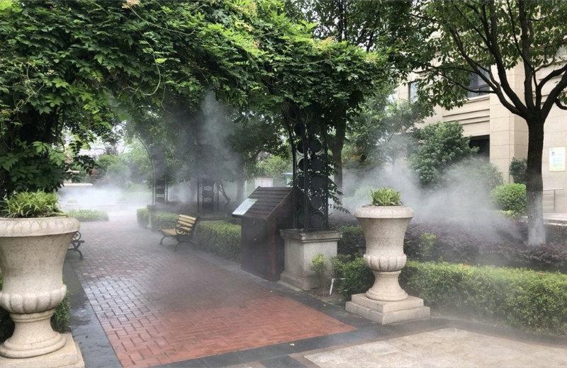 诸暨店口海亮花园景观喷雾